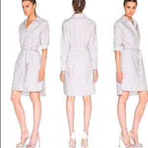 Equipment femme M Delany striped cotton shirtdress